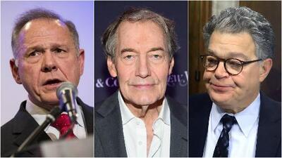 Roy Moore, Charlie Rose y Al Franken, en oleada de acusaciones por presunta agresión sexual