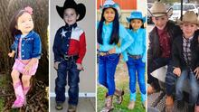 Muchos vaqueritos y vaqueritas se alistaron para el Go Tejano Day, pero no tuvieron escuela