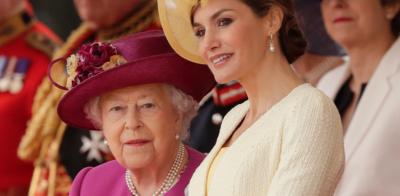 Letizia opacó a la reina Isabel II en su visita al palacio de Buckingham