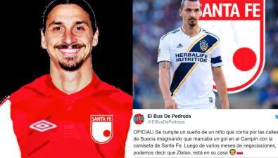 ¿Zlatan al fútbol colombiano? El rumor que se hizo viral y generó publicaciones hilarantes