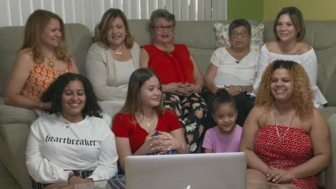 """""""Hi mom"""": el video viral de cinco generaciones de mujeres dominicanas"""