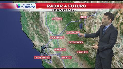 Chubascos ligeros se aproximan a California