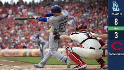 Reds no fueron rival ante los poderosos Dodgers del mexicano Verdugo
