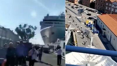 Crucero choca contra un muelle en Venecia: Los Pichy Boys investigan si fue accidente o estafa