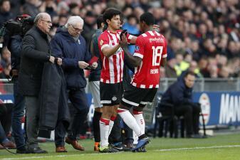 En fotos: Erick Gutiérrez estuvo en cancha en la goleada del PSV Eindhoven como local