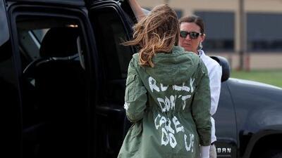 """Trump asegura que el mensaje de la chaqueta de Melania iba dirigido a los medios que publican """"noticias falsas"""""""
