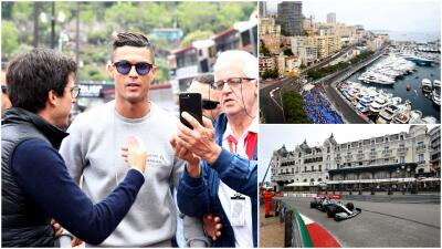 Cristiano Ronaldo se robó el show en los primeros entrenamientos libres de Mónaco