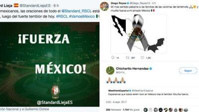 El mundo del fútbol se muestra solidario tras el temblor que sacudió a México