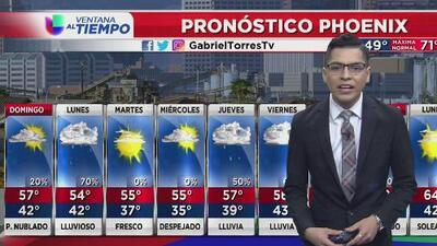 Se espera un domingo con probabilidad de lluvias en Phoenix