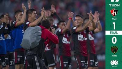 Atlas le arranca tres puntos a Juárez en una bravísima cancha