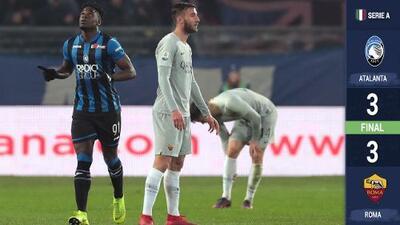 La Roma deja ir una ventaja de tres goles ante un Atalanta que le sacó el empate