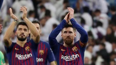 Messi y Suárez ya se entrenaron con el Barcelona y esperan jugar el derbi ante el Espanyol