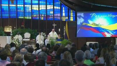 Venezolanos en Miami asistieron a misa para pedir paz para su país