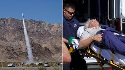 El californiano que cree que la Tierra es plana logró volar en su propio cohete sin matarse en el intento