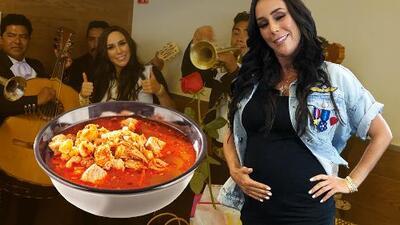 Siete meses, siete kilos: Inés Gómez celebra su baby shower comiendo pozole (por culpa de Galilea)