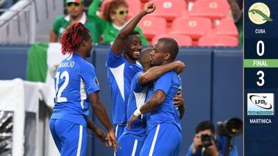 Martinica 'bailó' y goleó a Cuba en Denver para revivir en la Copa Oro