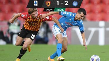 Remonta Napoli a Benevento con partido flojo de Chucky