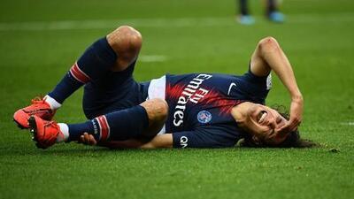 Otro caído a la enfermería del PSG: Cavani no estaría ante Manchester United en Champions