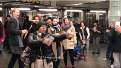 'Bodak Yellow' turns New York subway station into a dance party