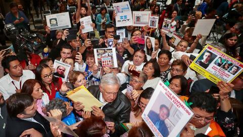 """AMLO: """"El principal violador de los derechos humanos fue el estado mexicano"""""""