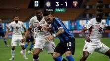 Inter goleó al Torino y ya es segundo de la Serie A