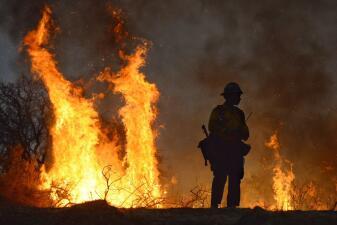 Incendio en Santa Bárbara
