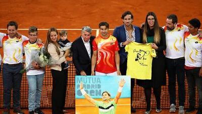 David Ferrer recibe un homenaje en Roland Garros