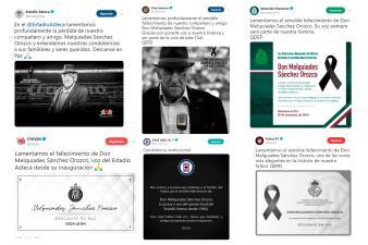 El fútbol mexicano se solidariza con el fallecimiento de Don Melquiades Sánchez