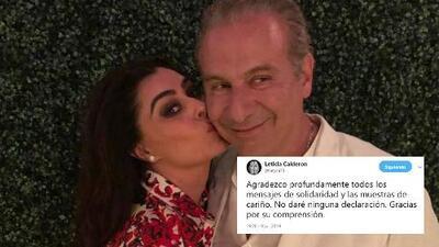 Lety Calderón reacciona al arresto su exesposo, Juan Collado