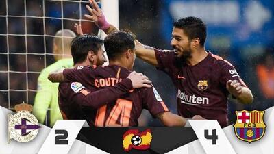 Barcelona vence al Deportivo y es campeón de La Liga de España