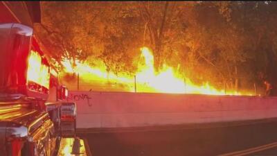 Más de 150 bomberos hacen esfuerzos titánicos para contener el incendio Marsh Creek Fire