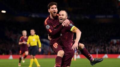 Con el del United, Messi dejó atrás a Iniesta en récord de partidos de la Champions League