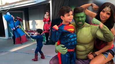 Todos disfrazados: Matteo festejó sus 4 años con una increíble fiesta de superhéroes (y 'Súper Abuelita')