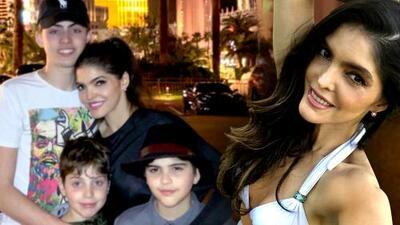 En plenas vacaciones con sus hijos, Ana Bárbara pide tiempo para ella y unas vacaciones para descansar de ellos