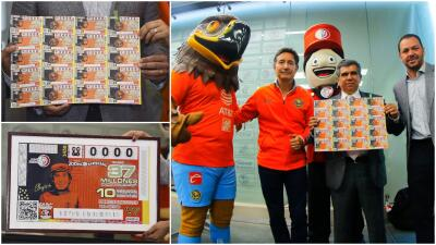 ¿Cuál número tendrá la suerte? Se lanzó el billete de lotería conmemorativo a El Chanfle