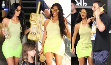 Kim Kardashian estrena teléfono... oops 😳 se trata de un bolso de 5,000 dólares 🤑