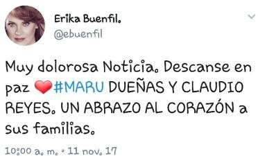 Impactado el mundo del espectáculo: así se despiden de Maru Dueñas y el hijo de María Rubio
