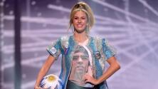 Diego Armando Maradona fue homenajeado en Miss Universo
