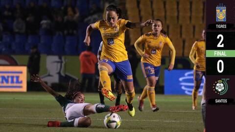 Tigres 2-0 Santos Laguna – GOLES Y RESUMEN – Jornada 13 – Liga MX FEMENIL