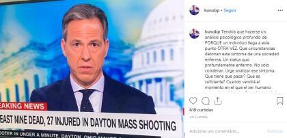 """Kuno Becker alzó la voz en Instagram y compartió esta imagen junto a la cual escribió: """"Tendría que hacerse un análisis psicológico profundo de porqué un individuo llega a este punto otra vez; qué cincunstancias detonan este  <b>síntoma de una sociedad enferma</b>""""."""
