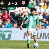 Hat-trick de Joaquín y aplausos a Lainez en triunfo del Betis