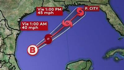Posible ciclón podría dejar hasta 8 pulgadas de lluvia en el norte de Florida