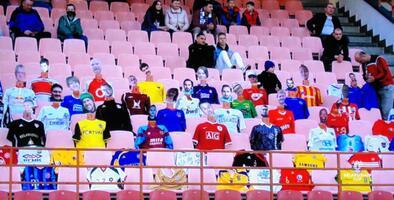 ¡Gran idea! Bielorrusia improvisa con maniquíes con fotos de fans