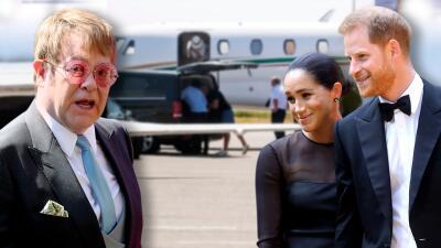 'Rocket Man' al rescate: Elton John defiende a Harry y Meghan de las críticas por sus vuelos en jets privados