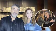 (Video) El beso de 'amigos' entre Lucero y Mijares tras su concierto virtual