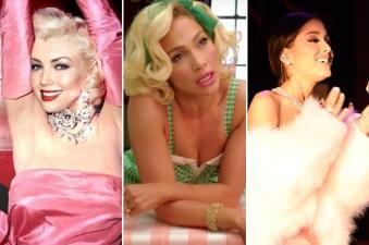 JLo, Thalía y Ariana Grande se trasforman en Marilyn Monroe
