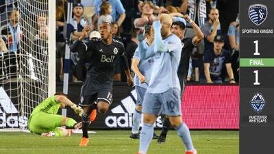 Con golazo de último minuto Vancouver rescata el empate en Kansas City