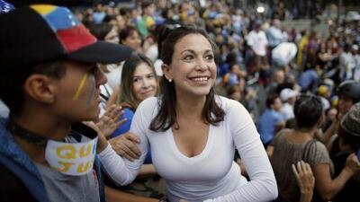 """""""Enfrentamos un estado criminal"""": Maria Corina Machado arremete contra Maduro"""