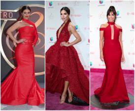 Chiquinquirá, Alejandra Espinoza, ¿quién más eligió el rojo para Premio Lo Nuestro?