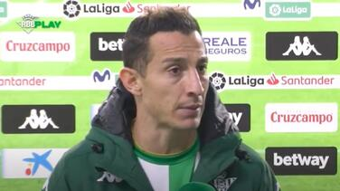 Andrés Guardado acepta que el Real Betis luce como un equipo frágil